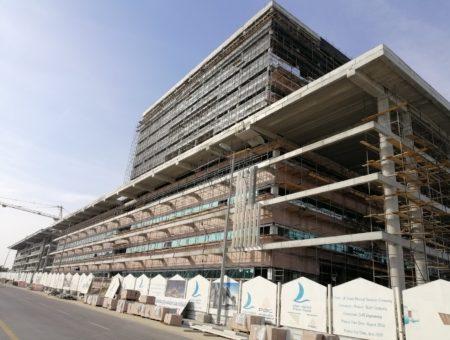 Al Salam hospital construction evolution