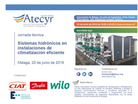 Atecyr event – hydronic systems in efficient HVAC installations