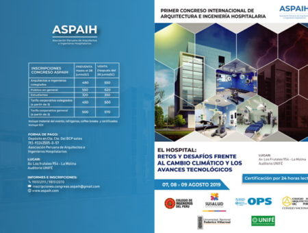 INGHO will have a lecture in the 1st International Congress Arquitecture and Engineering in Hopsitals