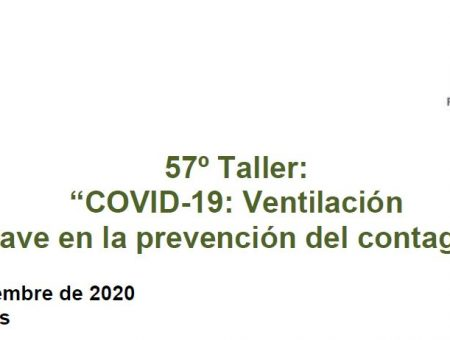 WORKSHOP ABOUT THE RELEVANCE OF THE VENTILATION IN COVID-19 PROPAGATION